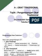 Obat Tradisional (I)