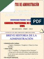 FIU-FUNDADM2012-1 - EVOLUCIÓN DE LA ADMINISTRACIÓN - 2012-I - UPLA