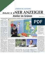 Atelierbesuch in Banzendorf, Artikel, 17. 05. 2012
