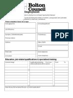 Application Form Non Teaching]