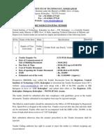 Short Tender Notice for Supply of Modular Steel Classsroom Desk Cum Bench