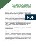 Plan de Calificacion de Carrocerias Distrito no de Quito