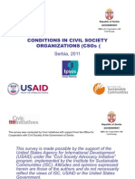 Conditions in CSOs Serbia 2011