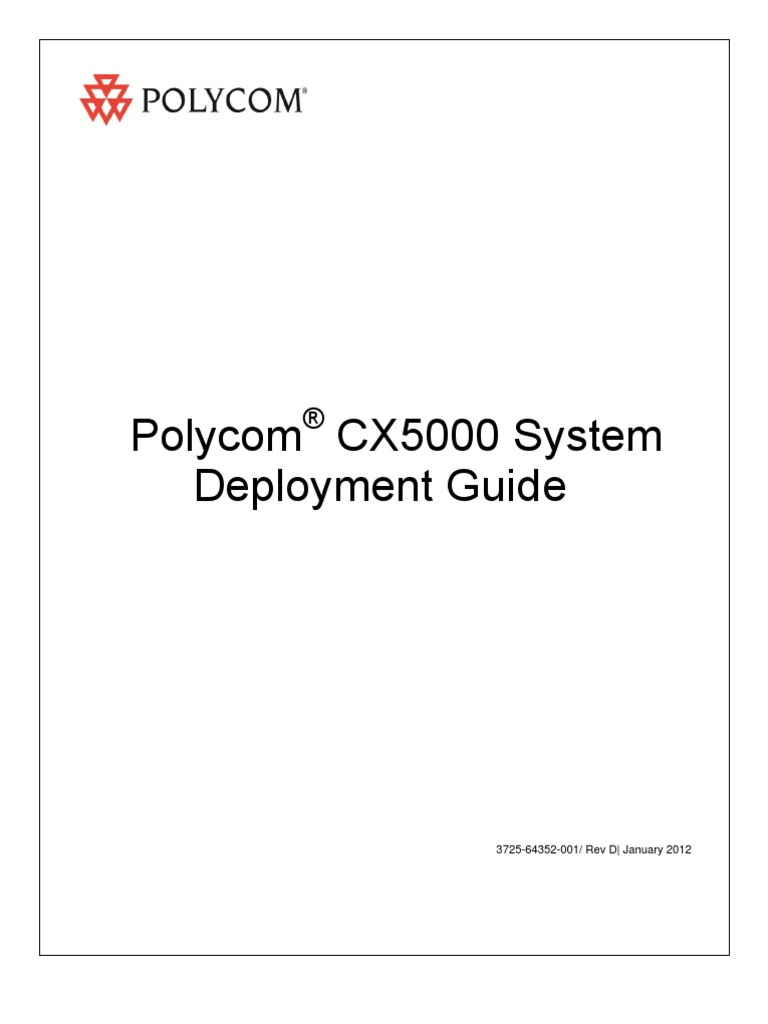 polycom cx5000 deployment guide technology computing rh scribd com Round Table Polycom CX5000 Polycom 5000