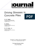 Driving Stresses in Concrete Piles