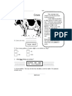 Cows, Basic Reading