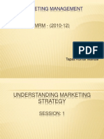 Marketing Planning & Strategy - Session 1