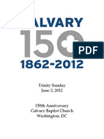 Bulletin, June 6, 2012, 150th Anniversary Sunday