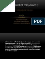 INVESTIGACION DE OPERACIONES 2