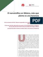 El narcotráfico en México, más que plomo es una herencia