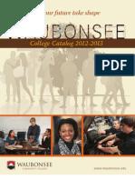 Waubonsee Catalog 2012-2013