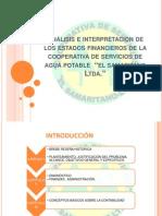 Análisis e interpretación de los estados financieros de [Recuperado]