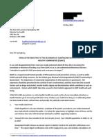 Open Letter to the Hon Mr L Springborg_120522_NoAddress