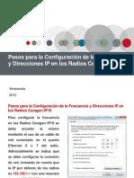 Pasos para la Configuración de la Frecuencia y Direcciones IP en los Radios Ceragon IP10