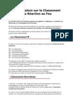 Réglementation sur le Classement au Feu et la Réaction au Feu