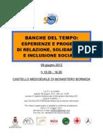Invito Banche Del Tempo