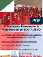 Trabajador Petrolero en La Construccion Del Sociallismo