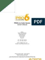 PRO6 Op Manual V1.00