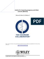 75724366 Zinc Supplementation for Improving Pregnancy and Infant