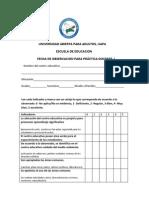 Ficha de Observacion Educativa