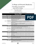 Ny Acdemic Calendar 2012