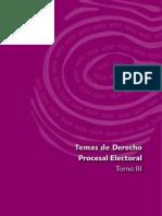 Temas de Derecho Procesal Electoral  Tomo III 2012