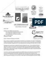 Land Trust letter to WCB