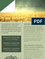Ramadan Newsletter Nr.1 - Die 3 Weissen
