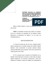 Dictamen Relativo Eleccion Presidencial 2006