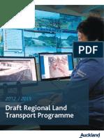 AT Draft-Regional Land-Transport Programme
