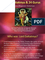 Lord Dattatreya and His 24 Gurus