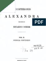Lykophron scholia (ed. Scheer, vol. 2, 1908)