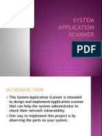 Ppt of System Application Scanner