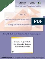 Banco de Leite Humano Controle de Qualidade Microbiológico