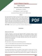 Journal of Colligative Properties