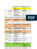 CRONOGRAM 5º PED I 2012