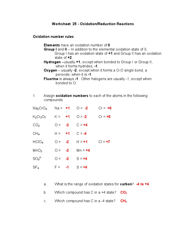 Uncategorized Redox Worksheet worksheet 25 redox key nitrogen