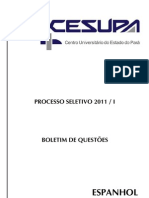 Cesupa 2011 - Prova Objetiva Espanhol