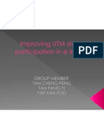 Improving UTM Student Participation in E-learning