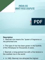India-US Basmati Rice Dispute