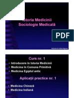 01 Istoria Medicinii Sociologie Medicala