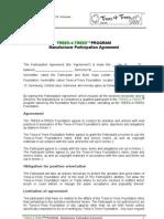 T4T Manufacturer Participation Agreement