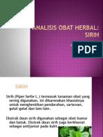 Analisis Herbal Sirih