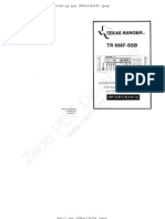 Texas Ranger TR-696F-SSB Owners Manual