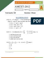 EAMCET-2012 Question Paper