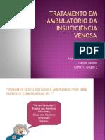 Tratamento em ambulatório da insuficiência venosa