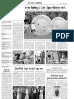 Tinnemeier bringt das Sportbein mit - 30.Mai 2012 Westfalen Blatt