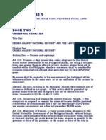 Criminal Law Book II