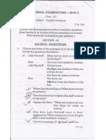 ISC English Paper-1 (Literature) Sample Paper