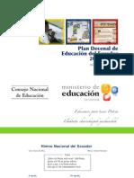 Plan Decenal de Educacion Ecuador